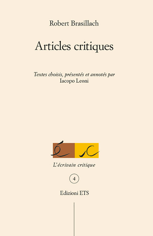 Copertina di Articles critiques