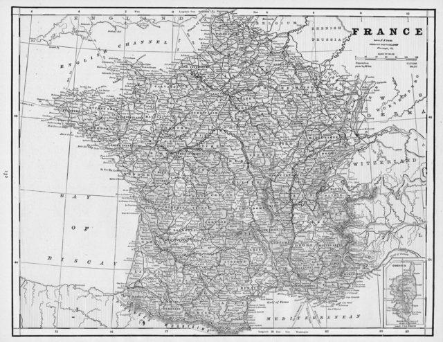 Cartina della Francia