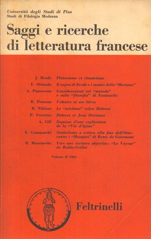 Saggi e ricerche di letteratura francese - Vol. II